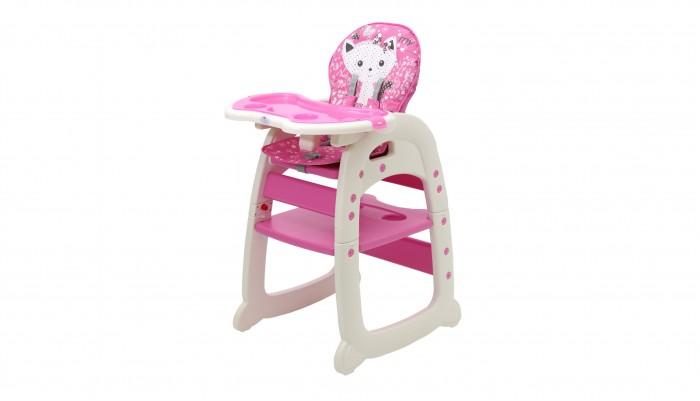 Стульчик для кормления Polini 460460Стульчик для кормления Polini 460 трансформируется в отдельный стульчик и столик.  Когда ребенок совсем маленький стульчик обеспечит удобное место для кормления ( от 6 мес. до 3-х лет), как только малыш подрастет модель можно трансформировать в стол и стул, подходящие для игр и обучения (от 3-х и до 6 лет).  Мягкое сидение обеспечит комфортное время препровождение, а пятиточечные ремни обезопасят ребенка от падения и случайных травм. Столик регулируется в 3-х положениях путем нажатия кнопки регулировки. Стульчик- трансформер создан с учетом всех потребностей малыша, его легко мыть.  Ограничения по весу: до 18 кг.  Преимущества: пятиточечные ремни съемный поднос трансформируется в отдельный стул и стол прочная конструкция мягкое,съемное сидение прост в уходе<br>