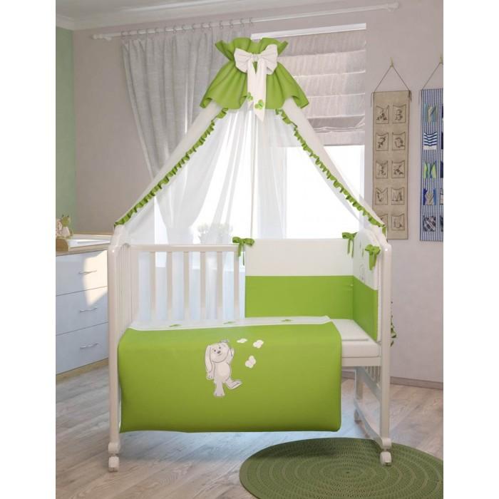 Купить Комплекты в кроватку, Комплект в кроватку Polini Зайки (7 предметов)