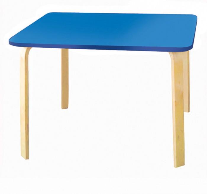 Polli Tolli Детский столик МордочкиДетские столы и стулья<br>Polli Tolli Детский столик Мордочки прекрасно впишется в домашний интерьер. Различные цвета позволяют подобрать детский стол для любого интерьера детской комнаты.  Стол выполнен из экологически чистых материалов, имеет легкий вес и высокую надежность. Скругленные углы на столешнице более безопасны для ребёнка. Прочные ножки выполнены из гнутоклеенной фанеры.  Особенности:  Размер изделия: 73 х 54 х 46 см Тип столешницы: Цельная Толщина столешницы: 1.6 см