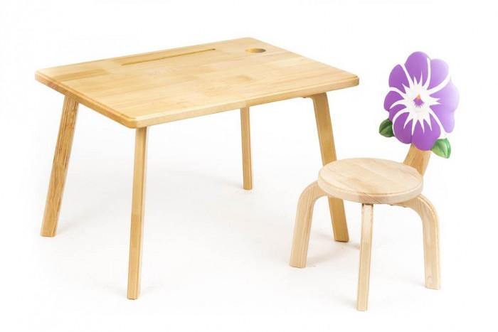 Детские столы и стулья Polli Tolli Комплект детской мебели Цветочек Анютины глазки