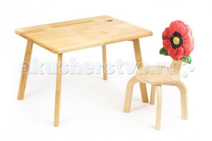 Детские столы и стулья Polli Tolli Комплект детской мебели Цветочек Мак