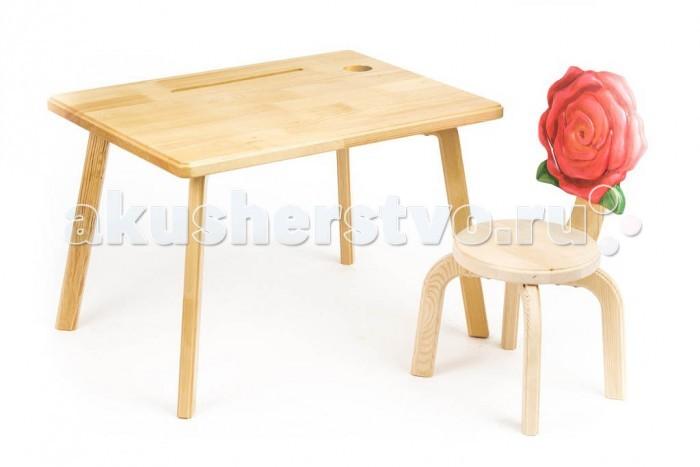 Детские столы и стулья Polli Tolli Комплект детской мебели Цветочек Розочка