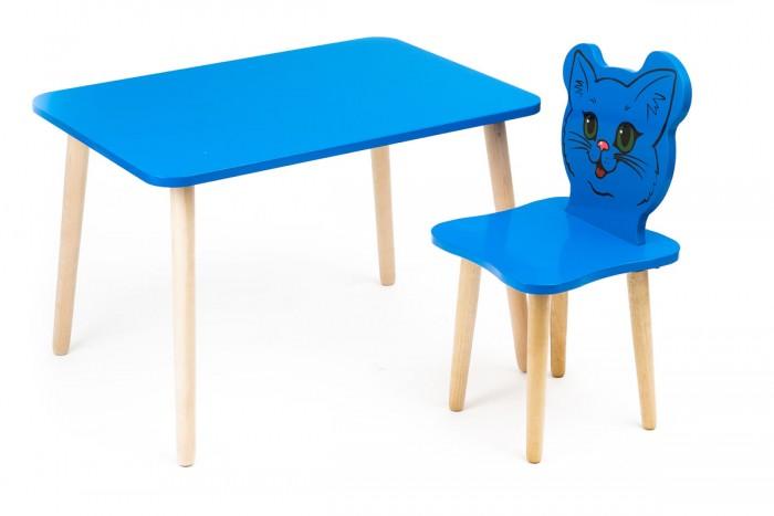 Polli Tolli Комплект детской мебели Джери с голубым столикомДетские столы и стулья<br>Polli Tolli Комплект детской мебели Джери с голубым столиком отлично подойдёт для Вашего малыша. Набор состоит из стула и стола, произведенных из массива березы и МДФ высокой плотности. Веселые и яркие картинкиделают серию уникальной и востребованной.Различные цвета позволяют подобрать мебель для любого интерьера детской комнаты.  Столешница столика, сиденье и спинка стульчика выполнены из легкого МДФ, а ножки из массива дерева.Легкий вескомплекта позволит малышу самостоятельно перемещать его. Стол и стул расписан красками с использованием УФ-печати ипокрыт глянцевым лаком.  Предназначен для детей дошкольного возраста.  Особенности:  Размер стола: 73 x 54 x 9 см Размер стула: 30 х 10 х 30 см