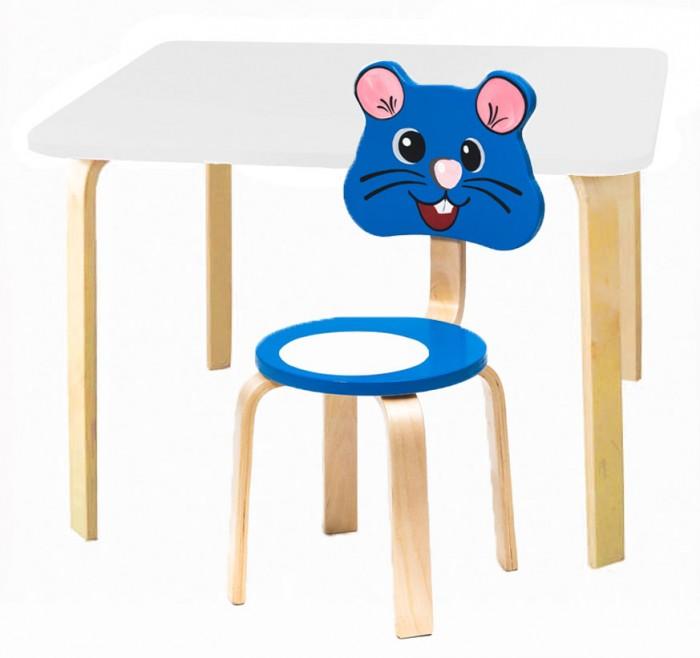 Polli Tolli Комплект детской мебели Мордочки с белым столиком