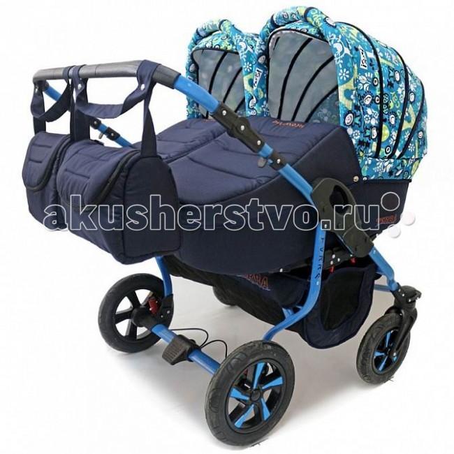 Детские коляски , Коляски для двойни и погодок Polmobil Коляска для двойни Terra 2 в 1 арт: 65341 -  Коляски для двойни и погодок