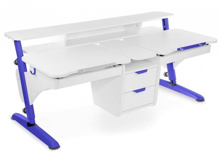 Столы и стулья Pondi Растущая парта для двоих детей (столешница белая)