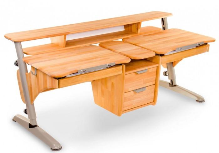 Столы и стулья Pondi Растущая парта из массива для двоих детей (столешница бук)
