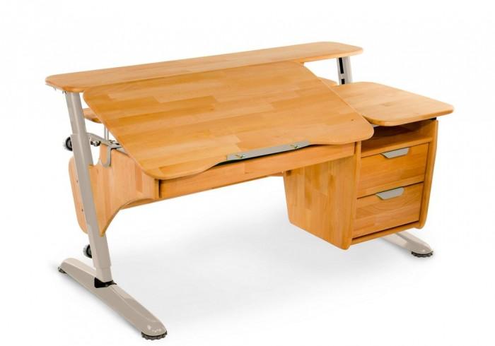 Столы и стулья Pondi Растущая парта из массива Эргономик с тумбой (столешница бук)