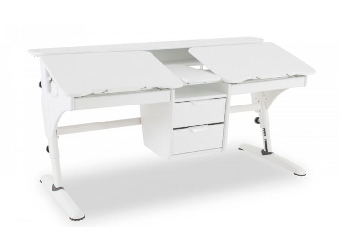 Pondi Растущий стол Эргономик для двоих детей (столешница белая)