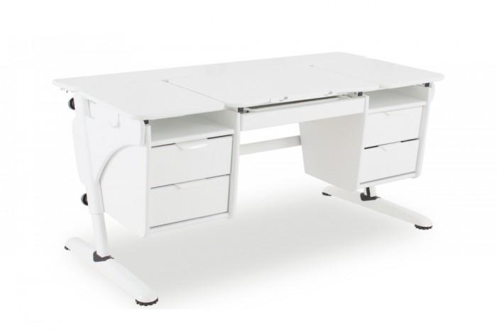 Pondi Растущий стол Эргономик с двумя тумбами (столешница белая)