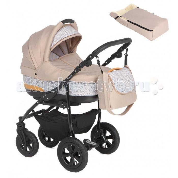 Коляска Prampol  Vivaroo 2 в 1Vivaroo 2 в 1Коляска Prampol Vivaroo 2 в 1 легка в управлении и имеет отличную проходимость по любым, даже самым плохим дорогам, за счет надувных колес на подшипниках и отличной амортизации.   Внутренность коляски Prampol обшита гипоаллергенной тканью, поэтому здоровью ребенка ничего не угрожает. Безопасность малыша гарантируют пристяжные ремни, съемный бампер. Чехол на ножки защитит ребенка от непогоды. Коляску легко сложить для хранения и перевозки в багажнике автомобиля.   Рама: Легкая и прочная из алюминиевого сплава Мягкая амортизация Надувные колеса на подшипниках как спереди так и сзади Центральный тормоз Вращающиеся передние колеса с возможностью фиксации Регулируемая по высоте ручка 81-110 см Размер в сложенном виде с колесами 96 см х 59.5 см х 38 см Вес рамы с колесами 9.1 кг Люлька: Изготовлена из высококачественных материалов Регулируемый бесшумный капор с ручкой для переноски Регулируемая спинка Функция колыбели Дно люльки - орголит, дополнительно усилены боковые стенки Внутренняя обивка легко снимается для стирки Внутренние размеры люльки: 78 см х 38 см х 22 см Вес 5.8 кг Прогулочный блок: Возможность устанавливать как походу так и против движения Теплая накидка для ног Регулируемая спинка сидения Регулируемая подножка до полностью горизонтального положения Пятиточечные ремни безопасности с мягкими накладками Дополнительный матрасик для маленьких детей Вес 5 кг В комплекте: дождевик корзина для покупок люлька прогулочный блок москитная сетка накидка для ног меховой спальный конверт сумка для мамы<br>