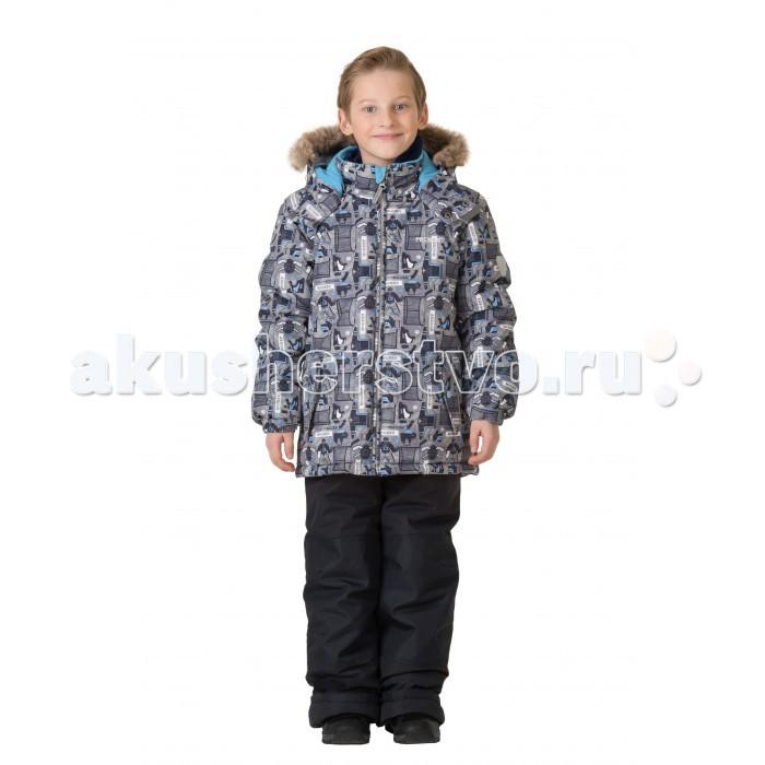 Premont Комплект зимний (куртка и брюки) КросбиКомплект зимний (куртка и брюки) КросбиPremont Комплект зимний (куртка и брюки) Кросби для вашего малыша.  Особенности куртки:  Съёмный капюшон  и отстёгивающийся  мех - на молниях;  Внешняя ветрозащитная планка на липучках;  Внутренняя эластичная манжета;   Внутренняя снегозащитная юбка;  Два кармана на липучках;  Внутренняя этикетка с местом для имени;  Капюшон застегивается на две кнопки на подбородке;  Светоотражающие элементы.   Особенности п/комбинезона, брюк:  Карман на молнии на полукомбинезоне/брюках;  Внутреняя защитная эластичная гетра, Регулировка длины брючин;  Усиление брюк в местах повышенного трения вторым слоем ткани Cordura;  Эластичные лямки с регулировкой длины;  П/комбинезон с высокой грудкой с 2 до 6х, брюки со съемными лямками и спинкой  с 7 до 14 .   Ткань верха (куртка): Taslan, мембрана 5000 мм;   Ткань верха (п/комбинезон, брюки):  Taslan; мембрана 5000 мм;  Подклад: Taffeta, Polar fleece;  Утеплитель: Tech-Polyfill 280 г (куртка),  180 г(п/комбинезон, брюки).   Таслан – это инновационная синтетическая ткань, на которую наносится специальное покрытие, имеющее «дышащую» структуру. Свои высокие защитные характеристики эта ткань образует благодаря специальному полимерному слою, который наносится на нее с внутренней стороны. Пористая структура данного полимера не пропускает холодный воздух и воду с внешней стороны, однако обеспечивает отведение наружу воздуха и водяных паров, и к тому же препятствует впитыванию выделений кожи.<br>