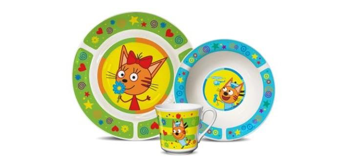 Купить Посуда, PrioritY Набор детской посуды Три кота (фарфор) КРС-822