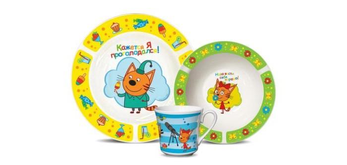 Купить Посуда, PrioritY Набор детской посуды Три кота (фарфор) КРС-823