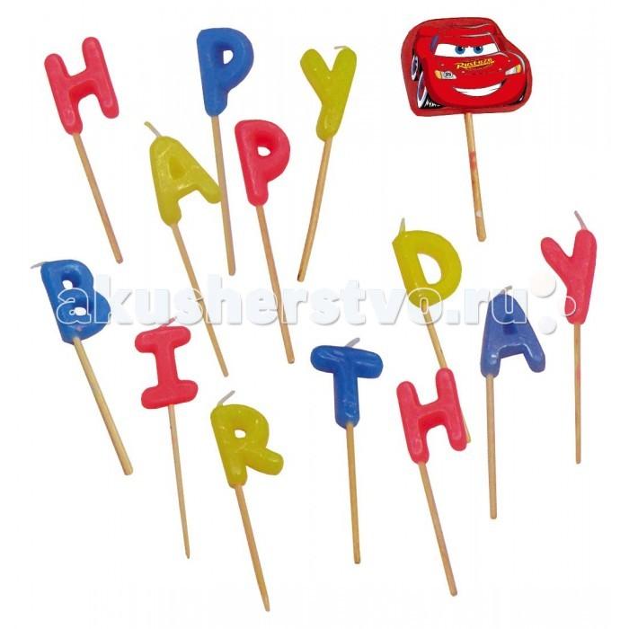 Товары для праздника Procos Свечи-буквы Happy Birthday свечи для торта procos тачки