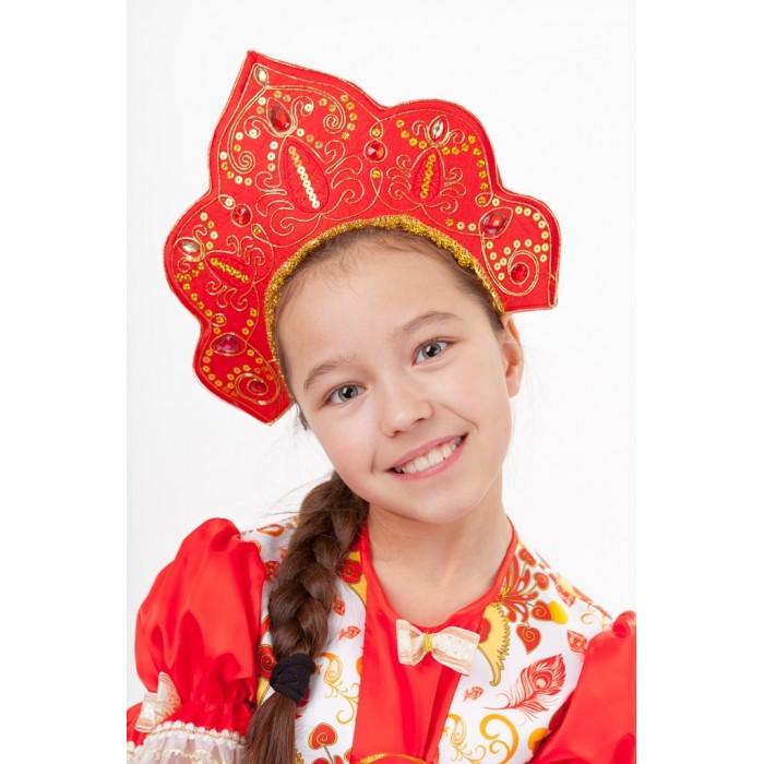 Фото - Карнавальные костюмы Пуговка Кокошник Царевна русский народный кокошник зимние узоры 5409