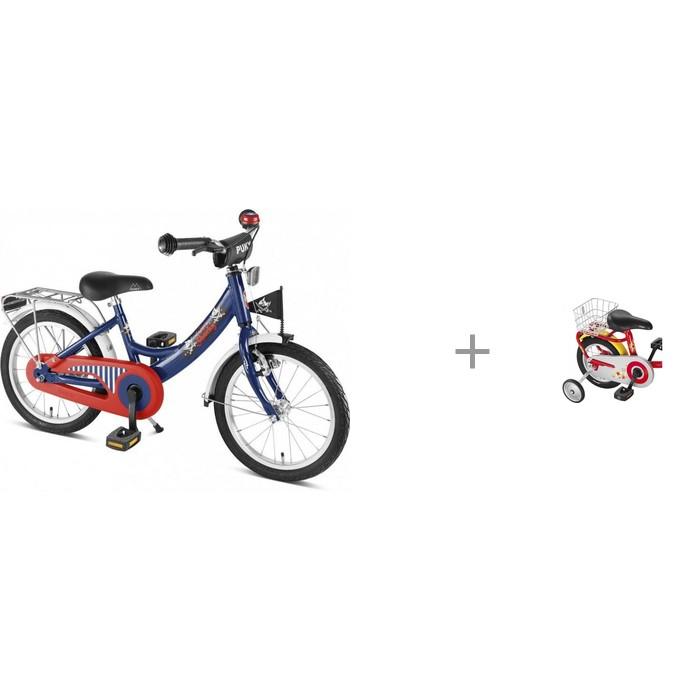 Двухколесные велосипеды Puky ZL 18-1 Alu с задней корзиной GK 2 приставные колеса puky st zl 9425 для двухколесных велосипедов zl 16 zl 18