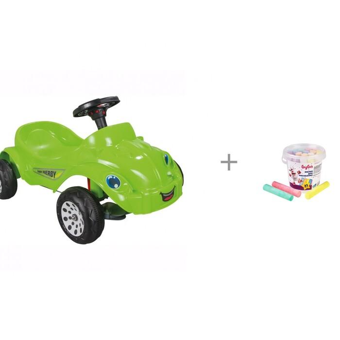 Картинка для Педальные машины Pilsan Педальная машина Happy Herby и мелки для рисования Just Cool