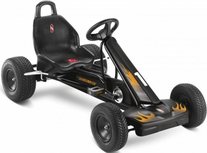Puky Педальная машина F1LПедальная машина F1LДетская педальная машина Puky F1L - это прекрасная замена обычному велосипеду, ребенок с легкостью пересядет на нее, и поверьте, не останется равнодушным к такому замечательному транспорту! Данная модель просто роскошный выбор для малыша.   Великолепный дизайн, изысканный черно-красный насыщенный цвет, регулировка руля и сиденья. Еще одна особенность Puky F 1 L - это свободный переход с переднего на задний ход без коробки передач, чтобы ребенок не убирал руки с руля и не отвлекался от дороги. Так же, как и вся продукция от немецкого бренда эта игрушка невероятно качественная и безопасная, любая деталь продуманна до мелочей.  Для детей: от 5 до 10 лет вес до 50 кг рост: от 115 см длина ноги: от 75 см - 105 см   Характеристики: Колеса: пневматические колеса на шарикоподшипниках передние &#216;260х80 мм, задние &#216;290х125 мм Рама: высокопрочная стальная, со специальным износостойким покрытием, которое не выгорает на солнце и устойчиво к повреждениям Сидение: с быстрой регулировкой под рост ребенка, эргономичное пластмассовое с шероховатым покрытием против соскальзывания Тормоза: ручной тормоз на оба задних колеса Регулируемое натяжение цепи, привода задних колес Защита цепи Спортивный руль с сигналом Спойлер с обтекаемым современным дизайном, защитный бампер Автоматический свободный ход педалей вперед и назад Вес: 21.8 кг<br>