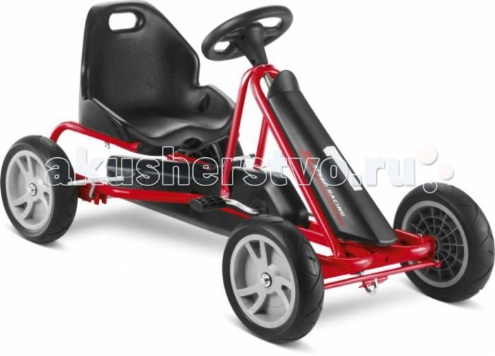 Puky Педальная машина F20Педальная машина F20Детская педальная машина Puky F20 - самая маленькая и легкая в своем сегменте. Представляемая модель отличается своим великолепным дизайном, настоящей комфортабельностью и повышенной безопасностью. Низкая посадка F20 обеспечивает ей дополнительную устойчивость и особенную безопасность.   Особенность Puky F 20 - это свободный переход с переднего на задний ход без коробки передач, чтобы ребенок не убирал руки с руля и не отвлекался от дороги. В целом - это одно из лучших предложений для детей возрастом от трех лет. Вручите своему ребенку радость от управления и езды на этом великолепном транспорте.  Для детей: от 3 до 5 лет вес до 30 кг рост: от 95 см длина ноги: от 56 см - 85 см   Характеристики: Колеса: литые из ПВХ на шарикоподшипниках (не нуждаются в подкачке, не боятся проколов) Рама: высокопрочная стальная, со специальным износостойким покрытием, которое не выгорает на солнце и устойчиво к повреждениям Сидение: регулируется под рост ребенка, эргономичное пластмассовое с шероховатым покрытием против соскальзывания Тормоза: ручной тормоз Регулируемое натяжение цепи, привода задних колес Защита цепи Спортивный руль с сигналом Передний спойлер Вес: 10.5 кг<br>