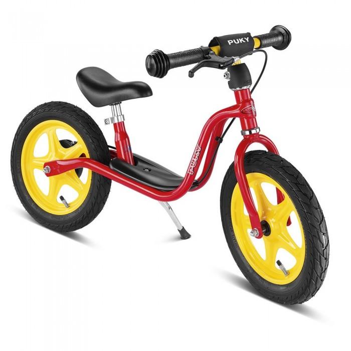 Беговел Puky LR 1L BrLR 1L BrБеговел Puky LR 1L Br - отличный транспорт для развития баланса и координации ребенка от 2 лет! Есть складная подставка для парковки и удобная подножка на раме, на которую можно ставить ножки после разгона.   Ручной тормоз (тормозная колодка расположена на заднем колесе) позволит обеспечить дополнительную безопасность юных поклонников скорости. Шины - пневматические - обеспечивают более комфортную езду через препятствия (бордюры, канавки). При езде по асфальту позволяют развить большую скорость, чем шины из ПВХ.  Материалы: металлический корпус сделан в соответствии с европейскими требованиями стандарта, качества и безопасности для детских товаров высокое качество окраски  Характеристики: предназначен для катания детей от 2 до 4 лет, на рост 90 до 104 см максимальная устойчивость и безопасность легкий вес регулируемая высота седла регулируемая высота руля накачиваемые колеса на подшипниках безопасные ручки на руле AirBag на руле (противоударная подушечка) подставка для парковки удобная подножка на раме ручной тормоз максимальная нагрузка - 50 кг ключ для сборки в комплект не входит (приобретается отдельно)  Общие размеры: дхшхв  87х13х49 см высота седла  34-42.5 см высота руля  47-56 см Размеры колес - диаметр  30 см Вес -  5.2 кг<br>