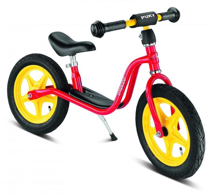Беговел Puky LR 1LLR 1LБеговел Puky LR 1L - отличный транспорт для развития баланса и координации ребенка от 2 лет! Есть складная подставка для парковки и удобная подножка на раме, на которую можно ставить ножки после разгона.   Шины - пневматические - обеспечивают более комфортную езду через препятствия (бордюры, канавки). При езде по асфальту позволяют развить большую скорость, чем шины из ПВХ.  Материалы: металлический корпус сделан в соответствии с европейскими требованиями стандарта, качества и безопасности для детских товаров высокое качество окраски  Характеристики: предназначен для катания детей от 2 до 4 лет, на рост 90 до 104 см максимальная устойчивость и безопасность легкий вес регулируемая высота седла регулируемая высота руля накачиваемые колеса на подшипниках безопасные ручки на руле AirBag на руле (противоударная подушечка) подставка для парковки удобная подножка на раме максимальная нагрузка - 50 кг ключ для сборки в комплект не входит (приобретается отдельно) седло 34-42,5 см,  без тормоза,  с подставкой  Общие размеры: дхшхв  87х13х49 см высота седла  34-42.5 см высота руля  47-56 см Размеры колес - диаметр  30 см Вес -  4.9 кг<br>