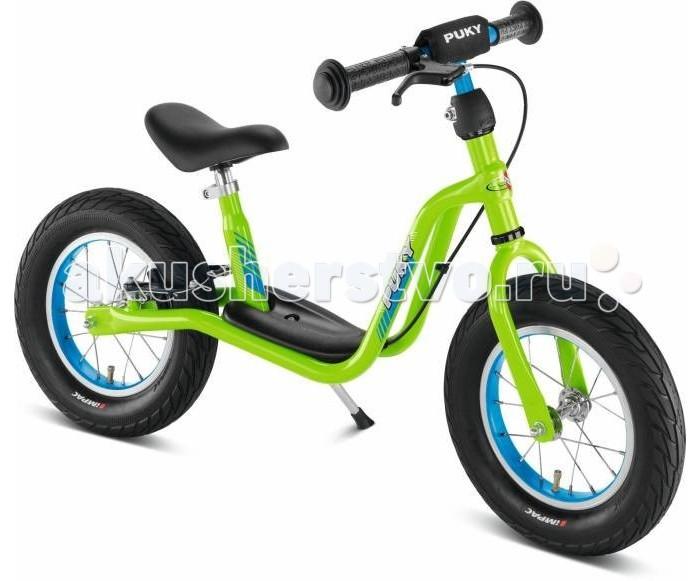 Беговел Puky LR XLLR XLБеговел Puky LR - отличный транспорт для развития баланса и координации ребенка от 3 лет! Есть складная подставка для парковки и удобная подножка на раме, на которую можно ставить ножки после разгона.  Ручной тормоз (тормозная колодка расположена на заднем колесе) позволит обеспечить дополнительную безопасность юных поклонников скорости. Шины - пневматические - обеспечивают более комфортную езду через препятствия (бордюры, канавки). При езде по асфальту позволяют развить большую скорость, чем шины из ПВХ.  Материалы: металлический корпус сделан в соответствии с европейскими требованиями стандарта, качества и безопасности для детских товаров высокое качество окраски  Характеристики: предназначен для катания детей от 3 до 5 лет, на рост 95 до 110 см максимальная устойчивость и безопасность легкий вес регулируемая высота седла регулируемая высота руля накачиваемые колеса на подшипниках безопасные ручки на руле AirBag на руле (противоударная подушечка) подставка для парковки удобная подножка на раме ручной тормоз максимальная нагрузка - 50 кг ключ для сборки в комплект не входит (приобретается отдельно)  Общие размеры: дхшхв  95х41х63 см высота седла  40-48.5 см высота руля  54-63 см Размеры колес - диаметр  30 см Вес -  5.5 кг<br>