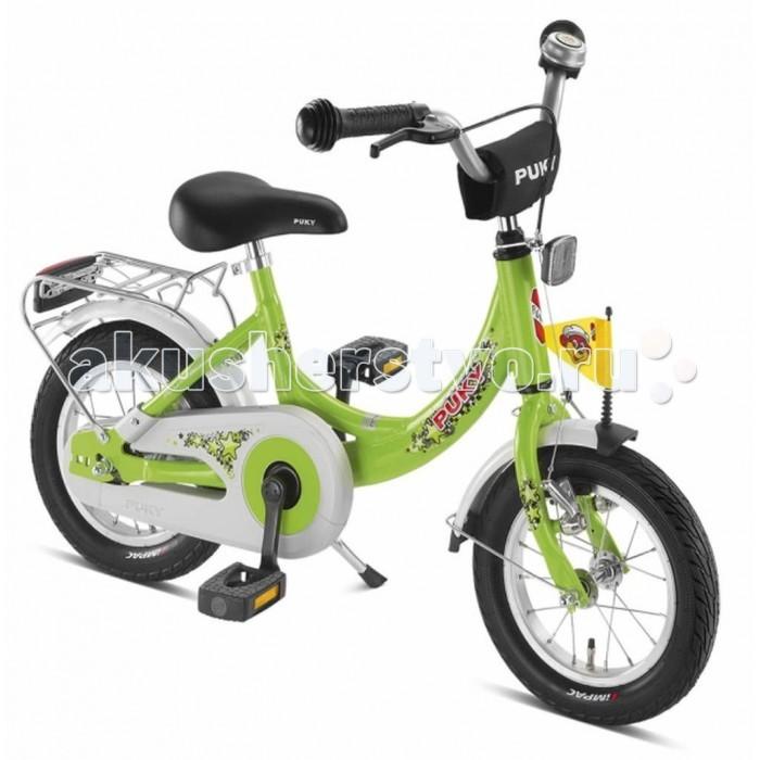 Велосипед двухколесный Puky ZL 12-1 AluZL 12-1 AluPuky ZL 12-1 Alu - самый легкий и безопасный велосипед из алюминия с низкой посадкой и очень легким ходом педалей для детей от 3 лет. Велосипед выглядит серьезно и представительно, его эргономика очень хорошо продумана, а качество материалов и сборки очень высокое. Такой велосипед послужит не один сезон, а после перейдет в наследство младшему ребенку от старшего.  Немецкие конструкторы много внимания уделили безопасности юного гонщика. Цепь велосипеда надежно спрятана пластиковым чехлом, и даже часть переднего крыла закрыта пластиковой накладкой. Есть передний и задний светоотражатель. Торможение переднего колеса осуществляется с помощью ручного тормоза с приводом на руле.  Характеристики: материал - алюминий рекомендуется детям от 3 до 5 лет на рост от 95 см, длину ноги от 40 см немецкое качество накачиваемые колеса 12 (2 приставных колеса-приобретаются отдельно) рулевое управление и педали на шарикоподшипниках звонок регулируемый ручной тормоз регулировка положения седла 45-54 см подставка для парковки флажок безопасности, багажник Barpad (противоударная подушечка) на руле защита цепи крылья, защищенные по краям пластиком светоотражатели передние и задние высота рамы 24 см нижняя позиция седла 45 см максимальная нагрузка 50 кг  В комплекте: велосипед звонок флажок  Размер 91 х 45 см Вес 8 кг<br>