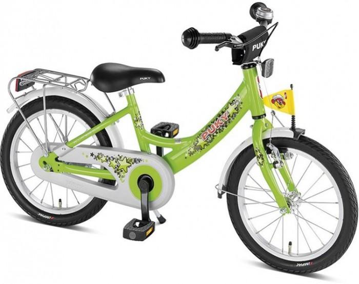 Велосипед двухколесный Puky ZL 18-1 AluZL 18-1 AluPuky ZL 18-1 Alu - отличный велосипед для Вашего ребенка в возрасте от 4 лет. Велосипед выглядит серьезно и представительно, его эргономика очень хорошо продумана, а качество материалов и сборки очень высокое. Такой велосипед послужит не один сезон, а после перейдет в наследство младшему ребенку от старшего.  Рама велосипеда выполнена из алюминия, поэтому Puky ZL 16 Alu - один из самых легких велосипедов в своем классе. Рама окрашена с помощью порошковой технологии, что гарантирует повышенную износоустойчивость. Такому покрытию не страшны яркий солнечный свет и падения на асфальт. Сварные швы на раме аккуратные и надежные, что обеспечивает устойчивость к нагрузкам во время катания.  Колеса велосипеда диаметром 18 дюймов с чрезвычайно мягким и легким ходом. Шины - пневматические, накачиваются ручным или электронасосом (в комплект не входит). Ниппель DV (Dunlop Valve), для накачки стандартным автомобильным или велонасосом может потребоваться адаптер AV/DV. Колеса закрыты крыльями, оберегающими одежду ребенка от брызг с колес.  Характеристики: материал - алюминий рекомендуется детям от 4 до 7 лет на рост от 105 см, длину ноги от 45 см немецкое качество накачиваемые колеса 18  рулевое управление и педали на шарикоподшипниках звонок регулируемый ручной тормоз регулировка положения седла 53-62 см подставка для парковки флажок безопасности, багажник Barpad (противоударная подушечка) на руле защита цепи крылья, защищенные по краям пластиком светоотражатели передние и задние высота рамы 28 см нижняя позиция седла 53 см максимальная нагрузка 50 кг  В комплекте: велосипед звонок флажок  Размер 124 х 53 см Вес 9.9 кг<br>