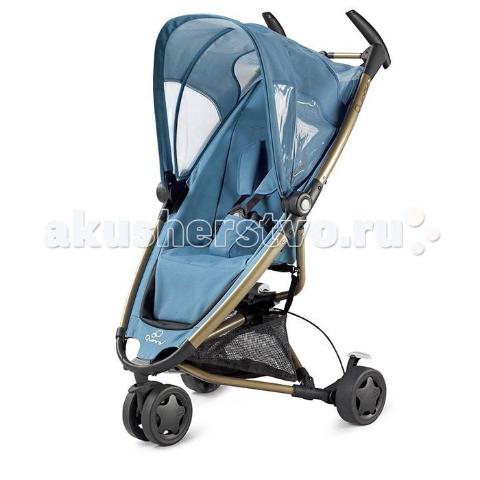 Прогулочная коляска Quinny ZappZappПрогулочная коляска Quinny Zapp – это ультрасовременный дизайн, который вобрал в себя множество красивых расцветок, удобство пользования для родителей и ребенка, возможность путешествовать без сложностей. Коляска компактна и легка. Анодированный алюминий делает ее вес 7,5 кг со всем комплектом. Ширина сиденья 28 см, глубина – 27 см. Высота спинки – 49 см. При такой конструкции ребенок надежно сидит в кресле, не сползая вперед.  Коляска: рассчитана для детей в возрасте от 6 мес. до 4-х лет. Наиболее подходит для подвижных детей, бодрствующих на прогулке; есть возможность установки на шасси автокресла Maxi-Cosi группы 0+ (с рождения до 13 кг), т.к. коляска имеет специальные адаптеры; ремень безопасности пятиточечный регулируемый; бампер отсутствует; спинка однопозиционная; подножка стационарная; складывающийся солнцезащитный козырек; ткань обшивки просто снимается с корпуса и стирается при температуре 30 градусов; светоотражатели, помещенные на обшивку коляски предупреждают водителей на дороге в темное время суток.  Шасси и колёса: удобные эргономические двойные ручки коляски не регулируются по высоте; складывается просто вместе с капюшоном с фиксацией на переднем колесе. Есть специальный чехол для транспортировки сложенной коляски; тормозная система установлена на задних колесах; переднее сдвоенное колесо имеет 360 градусов разворота. Это обеспечивает отличную маневренность колёс. При фиксации колеса в одном положении коляску можно катить одним пальцем; колёса при необходимости легко снимаются. Современная конструкция колёс позволяет использовать коляску не только на дороге с хорошим покрытием; подвески находятся на всех колесах.  Дополнительно в комплектации коляски также предусмотрен дождевик.<br>