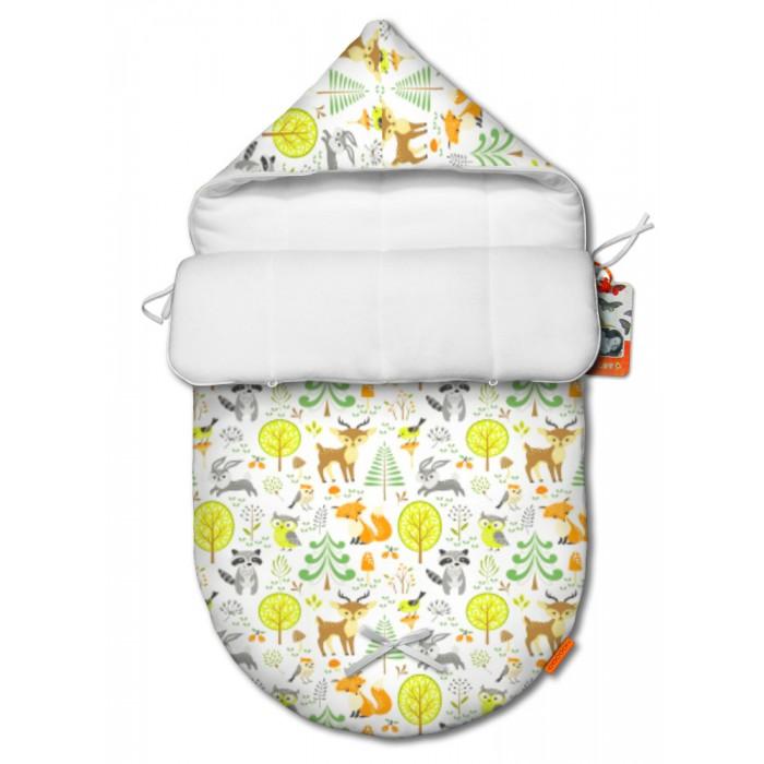 Конверты для новорожденных QuQuBaby Конверт для новорожденного демисезонный Сказочный лес