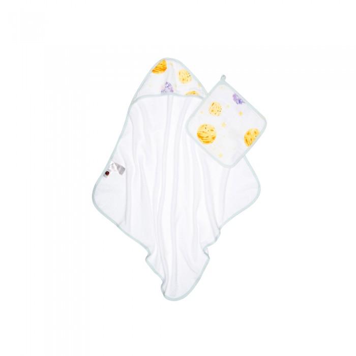 Купить Полотенца, Qwhimsy Полотенце детское махровое с уголком + полотенце муслиновое для лица Космос