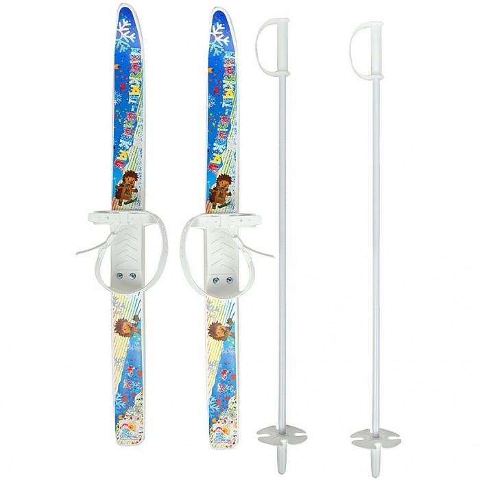 Купить Ледовые коньки и лыжи, R-Toys Лыжи детские Ёжик-Лыжики-Пыжики с палками
