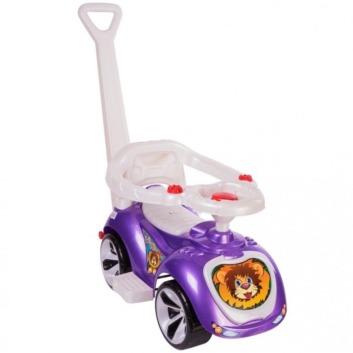 Каталка Орион машинка с родительской ручкой Мишка