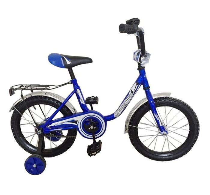 Велосипед двухколесный R-Toys Мультяшка 1604 16Двухколесные велосипеды<br>Двухколесный велосипед Мультяшка 1604 16 с боковыми колесами на усиленных кронштейнах. Ребенку проще привыкнуть к габаритам двухколесной модели, если она имеет дополнительные колесики для устойчивости. Когда рулевое управление будет доведено до совершенства, можно переходить к тренировкам поддержания равновесия на велосипеде без боковых колес.  Особенности велосипеда: прочная стальная рама стойкое антикоррозийное покрытие рамы удлиненные стальные крылья обод стальной руль ВМХ, по центру - мягкая накладка съемные боковые колеса с жесткой прорезиненной поверхностью усиленный кронштейн боковых колес надувные 16-дюймовые колеса на подшипниках количество скоростей - 1 защитный кожух на велоцепи тормоз задний ножной багажник звонок на руле