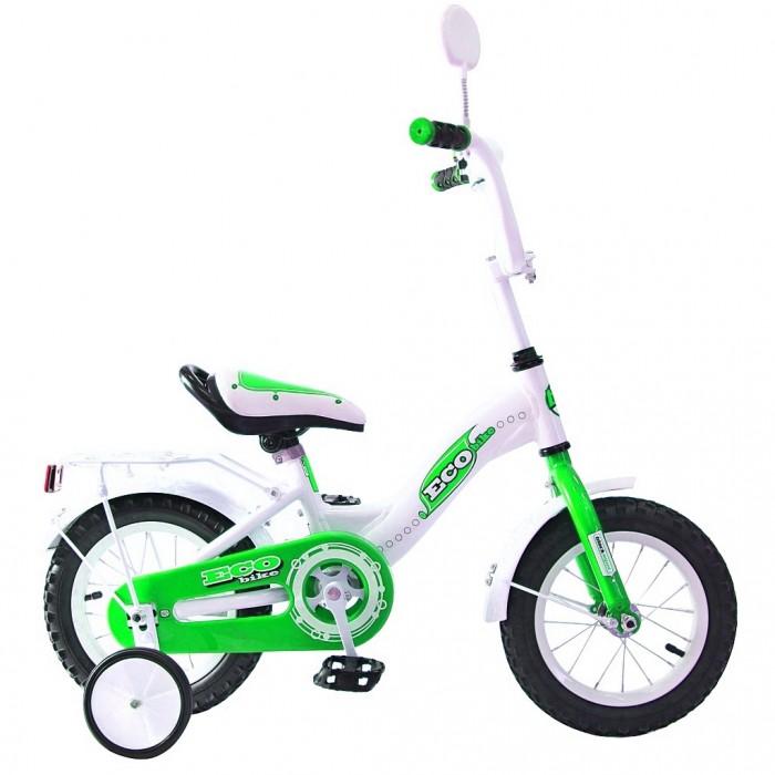Велосипед двухколесный R-Toys Aluminium BA Ecobike 12Aluminium BA Ecobike 12Двухколесный велосипед Aluminium BA Ecobike 12 с боковыми колесами на усиленных кронштейнах. Ребенку проще привыкнуть к габаритам двухколесной модели, если она имеет дополнительные колесики для устойчивости. Когда рулевое управление будет доведено до совершенства, можно переходить к тренировкам поддержания равновесия на велосипеде без боковых колес.  Особенности велосипеда: прочная алюминиевая рама стойкое антикоррозийное покрытие рамы удлиненные стальные крылья обод стальной руль ВМХ, по центру - мягкая накладка съемные боковые колеса с жесткой прорезиненной поверхностью усиленный кронштейн боковых колес надувные 12-дюймовые колеса на подшипниках количество скоростей - 1 защитный кожух на велоцепи тормоз задний ножной багажник-хром зеркало заднего вида на гибкой ножке звонок на руле<br>