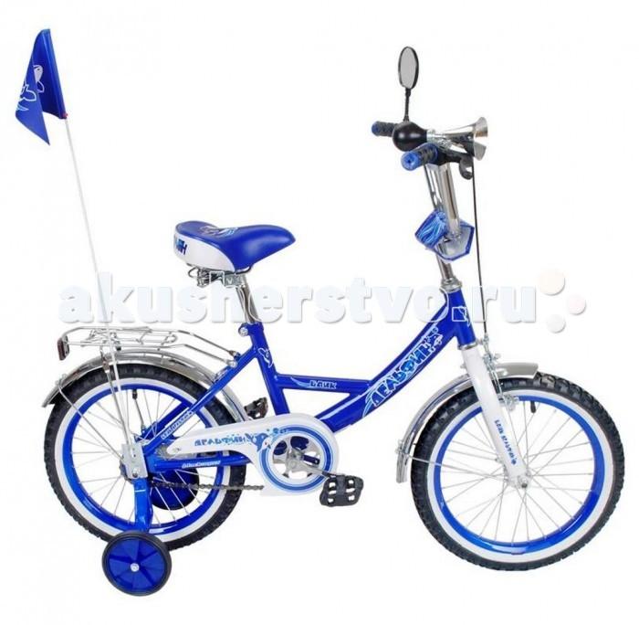 Велосипед двухколесный R-Toys BA Дельфин 14BA Дельфин 14Двухколесный велосипед BA Дельфин 14 с боковыми колесами на усиленных кронштейнах. Ребенку проще привыкнуть к габаритам двухколесной модели, если она имеет дополнительные колесики для устойчивости. Когда рулевое управление будет доведено до совершенства, можно переходить к тренировкам поддержания равновесия на велосипеде без боковых колес.  Особенности велосипеда: прочная стальная рама стойкое антикоррозийное покрытие рамы удлиненные стальные крылья обод стальной руль ВМХ, по центру - мягкая накладка съемные боковые колеса с жесткой прорезиненной поверхностью усиленный кронштейн боковых колес надувные 14-дюймовые колеса на подшипниках количество скоростей - 1 защитный кожух на велоцепи тормоз передний ручной багажник-хром зеркало заднего вида на гибкой ножке гудок на руле, флажок<br>