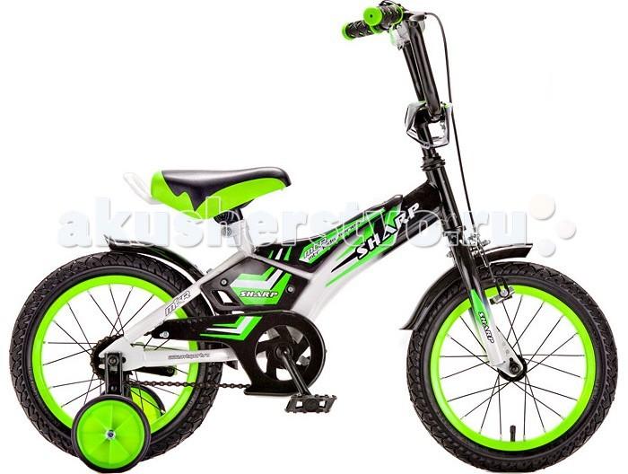 Велосипед двухколесный R-Toys BA Sharp 12BA Sharp 12Двухколесный велосипед BA Sharp 12 с боковыми колесами на усиленных кронштейнах. Ребенку проще привыкнуть к габаритам двухколесной модели, если она имеет дополнительные колесики для устойчивости. Когда рулевое управление будет доведено до совершенства, можно переходить к тренировкам поддержания равновесия на велосипеде без боковых колес.  Особенности велосипеда: прочная стальная рама стойкое антикоррозийное покрытие рамы удлиненные стальные крылья обод стальной руль ВМХ, по центру - мягкая накладка съемные боковые колеса с жесткой прорезиненной поверхностью усиленный кронштейн боковых колес надувные 12-дюймовые колеса на подшипниках количество скоростей - 1 защитный кожух на велоцепи тормоз передний ручной багажник-хром зеркало заднего вида на гибкой ножке звонок на руле<br>