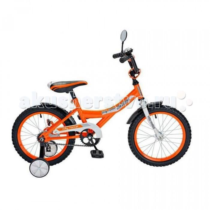 Велосипед двухколесный R-Toys BA Wily Rocket 14BA Wily Rocket 14Велосипед двухколесный R-Toys BA Wily Rocket 14 с изящной выгнутой рамой идеально подойдет для прогулок по городу.  Особенности: Отвечает высоким стандартам качества для детей от 2-3 лет.  Все продумано до мелочей: удобная рама, позволяющая ребенку легко садиться и спрыгивать с велосипеда.  Сиденье очень удобное.  Эргономика - 10 баллов.  Сиденье раскрашено в разные цвета, что придает ему особый стиль.  Также стильно смотрятся цветные обода колес.  Все модели сделаны специально для российских покупателей, которые ценят классические формы рам и высокий руль.  Высокий регулируемый руль и эргономичное сиденье обеспечивают комфортную посадку на велосипеде.  Руль регулируется как по высоте, так и по углу наклона.  Очень глубокий протектор колес позволит преодолевать самые непроходимые участки дорог. Также комфортно Ваш ребенок будет себя чувствовать и на ровных идеальных поверхностях. Диаметр колес: 14.  Рама: сталь. Вилка передняя: сталь жесткая. Втулка передняя: SHUNFENG.  Втулка задняя: SHUNFENG Тормоза: задний, ножной.  Покрышки: HONGDA 14х2,125. Крылья: Сталь черного цвета.  Педали: пластик.  Широкое седло.  Количество скоростей: 1.  Рулевая колонка: сталь.  Обода: сталь, цветные.  Стальная защита цепи.  Все велосипеды проходят неоднократную проверку качества в процессе изготовления и заводской сборке, поэтому при соблюдении всех правил эксплуатации и обслуживания, велосипед прослужит Вам длительный срок. В комплекте: дополнительные колеса, зеркало на гибкой ножке, звонок, инструмент для сборки велосипеда.<br>