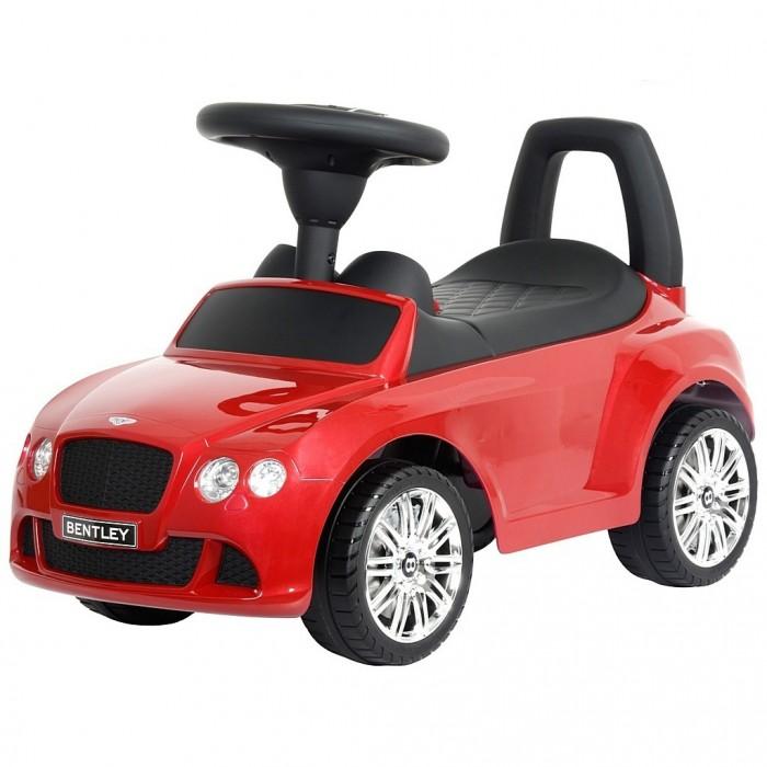 """Каталка R-Toys Bentley с музыкойBentley с музыкойТочная копия настоящего автомобиля Bentley по лицензии известного автоконцерна.   Реалистичный дизайн Bentley с повторением точных деталей дает ощущение подлинности автомобиля.  Хромированные диски с тормозами """"Bentley"""", реалистичные передние и задние фары, хромированная решетка радиатора, хромированный логотип на решетке радиатора, хромированные элементы на кузове - все как у настоящего автомобиля Bentley.  Каталка-автомобиль Bentley станет отличным подарком для маленького непоседы.  Машинка приводится в действие, как и все толокары, отталкиваясь ножками от земли.  Достаточно покрутить руль и машинка едет сама, развивает достаточную, но безопасную для ребенка скорость. Таким образом каталка поможет развивать ребёнка физически и укреплять мышцы ног.  На толокаре можно кататься как на улице, так и в помещении.  Рулём малыш определяет направление движения.  Музыкальные эффекты на руле каталки.  Очень эргономичное сиденье. Эргономика - 10 баллов. Ширина посадочного места: 21 см.  Под сиденьем – вместительный багажник для игрушек.  Сиденье и руль выполнены из матового пластика идеального качества и приятны на ощупь. Сделано из высококачественного пластика с обработкой по самым современным технологиям обработки пластика.  Максимальная нагрузка - 30 кг.  Рекомендуется для детей от 12 месяцев.  Размер 66.5х29.5х26 см<br>"""