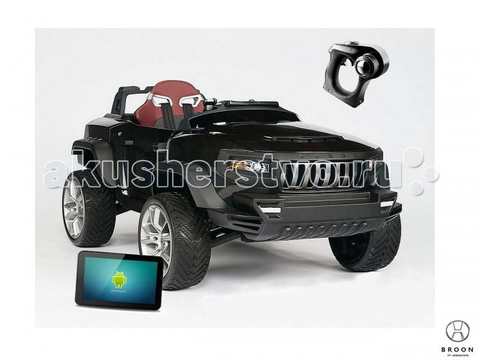 Электромобиль R-Toys Джип-внедорожник BROON HenesДжип-внедорожник BROON HenesЭлектромобиль R-Toys Джип-внедорожник BROON Henes полноприводный со встроенным планшетом Android.  Особенности: Джип на аккумуляторе 24V c 2 мощными двигателями, независимой подвеской с газовыми амортизаторами, самоблокирующимся дифференциалом, электроусилителем руля, автоматической коробкой передач и многое другое…. Установленный в приборную панель планшет (который при желании можно снять) служит средством управления MP3-плеером, а также позволяет родителям управлять системами безопасности автомобиля, например, установкой ограничения максимальной скорости.  Информация о состоянии электромобиля отображается на дисплее.  BROON Henes можно управлять 2 способами: в ручном режиме при помощи рулевого колеса, педалей газа и тормоза, и при помощи Bluetooth пульта ДУ. Полноприводный ДЖИП-внедорожник BROON Henes может разгоняться до 8 км/ч. Перезаряжаемый съемный батарейный блок (индикатор уровня заряда). Дистанционное управление: частота 2,4 ГГц. Bluetooth 4,0. Ядро 8051. Характеристики РЦ: чувствительность приемника(Rx) -93dBm.  Выходная мощность (ТХ): 4dBm.  Смарт-система: Операционная система: Android 4.2.2. 2-х ядерный процессор 1,2 ГГц. Встроенная память: 1 Гб. Экран: 7-дюймовый широкоформатный LCD (1024&#215;600).<br>