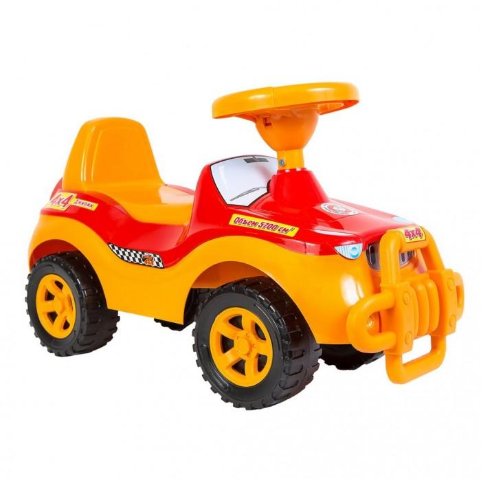 Каталка R-Toys ДжипикДжипикКаталка R-Toys Джипик с клаксоном.  Особенности: Идеально подойдет для малышей от 8-10 месяцев.  Этот автомобиль с милым названием Джипик станет надежным другом Вашему малышу.  Яркий, сочный и прочный пластик не подвержен деформации и перепаду температур.  Выполнен по самым современным технологиям и соответствует всем высочайшим стандартам качества и безопасности.  Впереди есть защитный бампер-кенгурятник, который дополнительно защитит Вашего малыша от ударов.  На руле есть клаксон.  Эргономичное сиденье со спинкой.  Легкая, но очень устойчивая.  Очень устойчивые, широкие и проходимые колеса легко справятся с любым покрытием дорог.  Эту каталку можно использовать и дома, и на улице.  Яркий цвет и дизайн покорит с первого взгляда и Ваш малыш не захочет расставаться с каталкой.  Максимальная нагрузка 25 кг.  Размеры каталки: 60х35х28 см.<br>