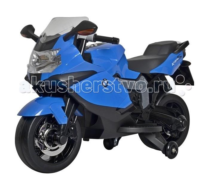Электромобиль R-Toys Электромотоцикл BMWЭлектромотоцикл BMWЭлектромобиль R-Toys Электромотоцикл BMW - точная копия настоящего мотоцикла BMW 1300 S по лицензии известного автоконцерна.  Особенности: Реалистичный дизайн BMW с повторением точных деталей дает ощущение подлинности мотоцикла.  Как и в реальном мотоцикле BMW, эта игрушка разработана, чтобы обеспечивать ребенку максимальную безопасность.  Аккумуляторный 6V,с 2-мя дополнительными мягкими силиконовыми боковыми колесиками для более безопасной езды.  Разгоняется до 3-4 км/ч за 4 секунды Этот стильный спортивный мотоцикл не оставит равнодушным ни одного ребенка.  В нем все как у оригинального мотоцикла - эргономичное сиденье, передняя фара светится, ветровое стекло.  Электромотоцикл может ехать вперед-назад, руль поворачивается вправо- влево.  Для включения электромотоцикла достаточно вставить ключ в замок зажигания и завести мотоцикл.  Приводится в движения путем нажатия на кнопку ногой на подножке. 3 скорости.  Время работы электромотоцикла- 2 часа.  Корпус - полипропилен усиленный, закаленный, противоударный- прочен и долговечен.  Не останется ни одной царапины, потому что экологически чистая краска проникает глубоко внутрь корпуса.  Реалистичные подобные оригиналу сплав колес. Эргономика сиденья- 10 баллов.  Множество музыкальных и световых эффектов: светятся светодиодные фары, подсветка приборной панели.  В комплекте: зарядное устройство 220В, аккумуляторная батарея 2х6V — 7АH. Мотор 30W. Рекомендуется детям от 3 лет.  Максимальная нагрузка- 35 кг.<br>