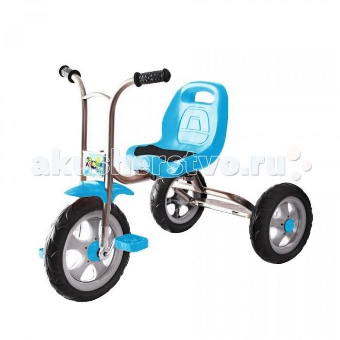 Велосипед трехколесный R-Toys Galaxy ЛучикGalaxy ЛучикОчень легкий, невесомый 3-х колесный велосипед Galaxy Лучик простой конструкции Сел и поехал. И это действительно так - посадите малыша на эту простую модель и он сразу же начнет тянуться к педалькам, быстро научится крутить педали и управлять своим первым транспортным средством.   Эта модель - классика, которую помнят и знают все родители. Ваш малыш тоже полюбит свой простой, но надежный Лучик.   Особенности: Уникальность велосипеда - в его легком весе: 5 кг. Велосипед изготовлен из качественных материалов. Рама сделана из стали, что придает большую надежность и больший срок службы при невысокой стоимости. Облегченная металлическая рама покрыта порошковой краской. Полиуретановые колеса созданы по новейшей технологии. Уникальная технология двойного вспрыскивания колеса - в жесткое шасси колеса помещают мягкий материал TPR - термо-пластичный каучук. За счет этого колесо не сдувается, не прокалывается, имеет мягкий и бесшумный ход. Эргономичное сиденье с отверстием для переноски. На сиденье - мягкая прорезиненная накладка. Удобные прорезиненные ручки на руле. Переднее колесо 10 дюймов. Задние - 8 дюймов. Настоящая находка для мам, которые хотят чтобы их дети активно развивались. Настоящая находка для маленьких непосед. Максимальная нагрузка 30 кг.  Габариты: длина 76 см ширина 46 см от пола до руля 59 см до сиденья 34 см<br>