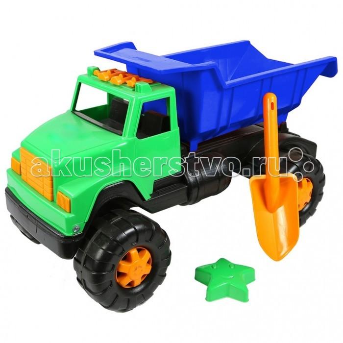 R-Toys Автомобиль Интер BIG ОР191Автомобиль Интер BIG ОР191R-Toys Автомобиль Интер BIG ОР191 на 6 широких и проходимых колесах понравится юному автомобилисту - любителю больших и прочных машин.   Особенности: Такая игрушка будет незаменима в песочнице, с ней можно играть бесконечно, перевозить песок и многое другое.  Игра с такими большими самосвалами позволяет в полной мере имитировать реальные погрузочно-разгрузочные работы, дает возможность применить ребенку свою фантазию, помогает разыгрывать различные ситуации.  Это идеальная игрушка для игр на открытом воздухе и отлично подойдет для игры на даче, во дворе, на загородных участках, на площадках, в песочницах. Эти самосвалы отличаются высоким качеством, дизайном и функциональностью. Яркий и красивый дизайн понравится Вашему малышу!  Эта машина способна решать большие воспитательные задачи, развивает много хороших качеств: помощь друзьям и взрослым, ответственность, заботу, доброту и внимание.  Детская машина - самосвал Интер BIG — это пластмассовая игрушка, изготовленная из высококачественного сырья.  В производстве этих машин используются безопасные материалы.  Пластик не деформируется и не выгорает под солнцем.  Рекомендуется для детей от 2 лет.  В комплекте: большая лопатка и формочка в виде звезды для игр в песочнице.<br>