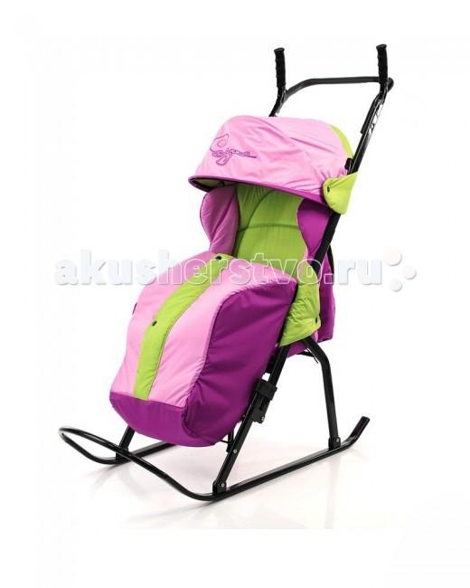 Санки-коляска R-Toys Кенгуру-1Кенгуру-1Удобная ручка позволит Вам комфортно перемещать Вашего ребенка при наличии бордюров, при переходе через дорогу. Самый легкий, складной и прочный вид транспорта для зимы -это санки-коляска на полозьях.  В сложенном виде санки компактны и удобны для хранения и для провоза в общественном транспорте. Их толщина-24см. Каркас выполнен из стального плоскоовального профиля. Складывающаяся подставка для ног. Складной капюшон как у детских колясок. Высокое положение мягкого сиденья, есть ремни безопасности для фиксации малыша, подножка для дополнительного удобства. Очень теплый чехол для ножек, на кнопках посредине. Утепленный чехол с центральным замком и ветрозащитной планкой имеет комфортную, не сковывающую движения форму. Ткань«DEWSPO» - непродуваемый водоотталкивающий материал с пропиткой. Сзади большая вместительная сумка. Использованы яркие светоотражающие ткани для безопасных поездок в темное время суток. В комплекте-большая сумка. Санки-коляска Кенгуру-1 предназначены для перевозки детей от 9 месяцев до 3 лет. Для этого разработано эргономичное комфортное сиденье, обеспечивающее правильное положение ребенка в санках, посадочное место оснащено боковыми ветровиками. К козырьку санок пристегивается ветро-снегозащитная пленка, которая защитит Вашего ребенка в непогоду. Максимальная нагрузка-50 кг.<br>