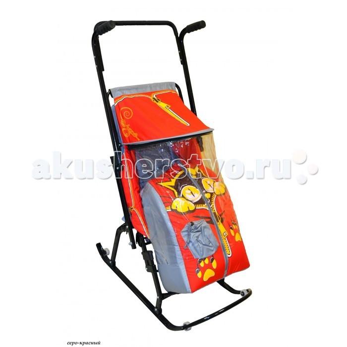 Зимние товары , Санки-коляски R-Toys Снегурочка 4-Р Котенок арт: 20492 -  Санки-коляски