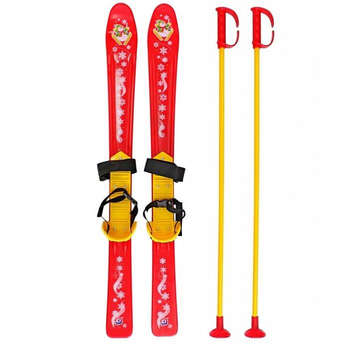Ледянки R-Toys Лыжи детские с палками и креплениями мини лыжи детские car design