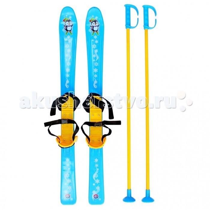 Ледянки R-Toys Лыжи детские с палками и креплениями