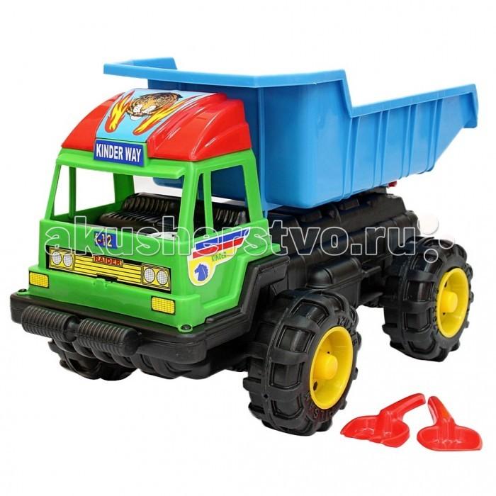 R-Toys Машина большая высокая МaxМашина большая высокая МaxR-Toys Машина большая высокая Мax на 4 широких и проходимых колесах понравится юному автомобилисту - любителю больших и прочных машин.   Особенности: Такая игрушка будет незаменима в песочнице, с ней можно играть бесконечно, перевозить песок и многое другое.  Игра с такими большими самосвалами позволяет в полной мере имитировать реальные погрузочно-разгрузочные работы, дает возможность применить ребенку свою фантазию, помогает разыгрывать различные ситуации.  Это идеальная игрушка для игр на открытом воздухе и отлично подойдет для игры на даче, во дворе, на загородных участках, на площадках, в песочницах. Эти самосвалы отличаются высоким качеством, дизайном и функциональностью. Яркий и красивый дизайн понравится Вашему малышу!  Эта машина способна решать большие воспитательные задачи, развивает много хороших качеств: помощь друзьям и взрослым, ответственность, заботу, доброту и внимание.  Детская машина — это пластмассовая игрушка, изготовленная из высококачественного сырья.  В производстве этих машин используются безопасные материалы.  Пластик не деформируется и не выгорает под солнцем.  Рекомендуется для детей от 3 лет.  В комплекте: лопатка и грабли для игр в песочнице.  Размер 69х39х38 см.<br>